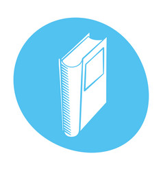 book library read learn icon color vector image