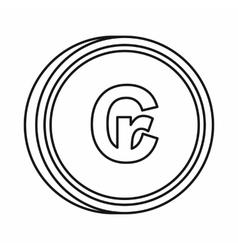 Brazilian cruzeiro symbol icon outline style vector