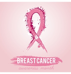 Breast cancer awareness symbol vector