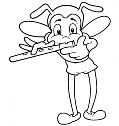 Bug and flute vector