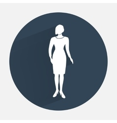 Businesswoman icon Office worker symbol Standing vector