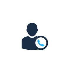 call user logo icon design vector image