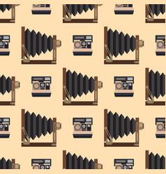camera photo optic lenses seamless pattern vector image