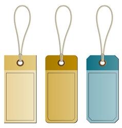 Cardboard tags vector