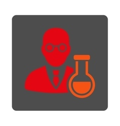 Chemist Rounded Square Button vector image