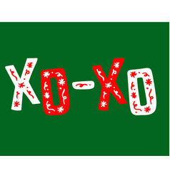 christmas hand-drawn lettering with doodles vector image