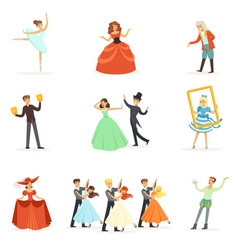 Classic theater and artistic theatrical vector