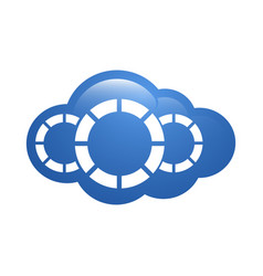 cloud logo template design icons vector image