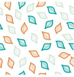 Color leaf seamless pattern vector