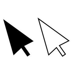 computer mouse click pointer cursor arrow on vector image