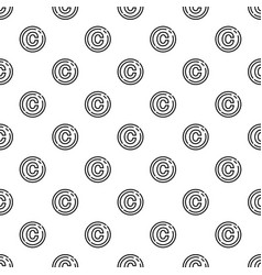 Copyright sign pattern seamless vector