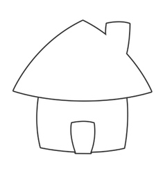 cute cartoon house icon vector image