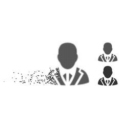 Dissolving pixel halftone valet icon vector
