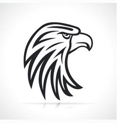 eagle head black and white vector image