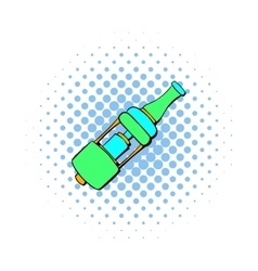 Electronic cigarette mouthpiece icon comics style vector