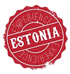Estonia stamp rubber grunge vector image