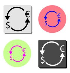euro dollar turnover arrows flat icon vector image