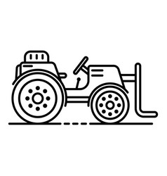 Farm lift tractor icon outline style vector