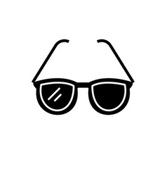 fashionable glasses black icon sign on vector image