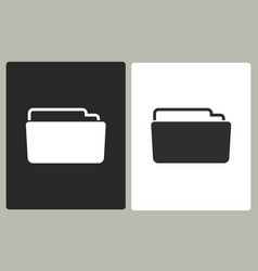 folder - icon vector image