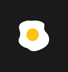 Fried egg logo graphic design template vector