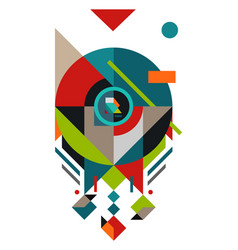 Geometric graphic design art vector