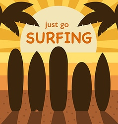 go surfing concept different surf boards vector image