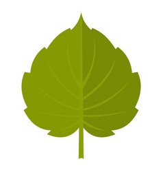 Green alder leaf icon isolated vector