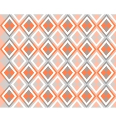 Grey white orange background with rhombuses vector