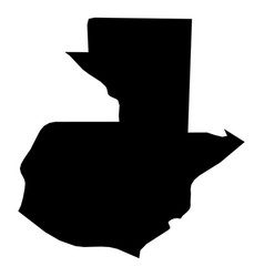 guatemala - solid black silhouette map of country vector image