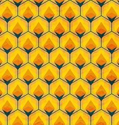 honey mosaic seamless pattern vector image