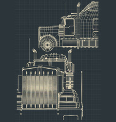 large truck drawings vector image