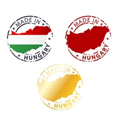 made in Hungary stamp vector image