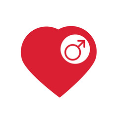 male sign icon male sex heart button vector image