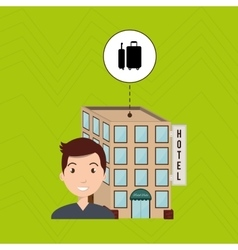Man hotel building service vector