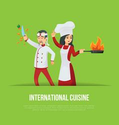 Masters of international cuisine concept vector