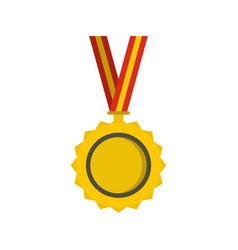 medal icon flat style vector image
