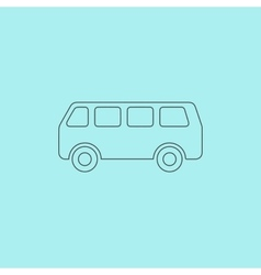 Minibus icon vector