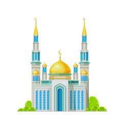 Mosque muslim building islam religion shrine vector