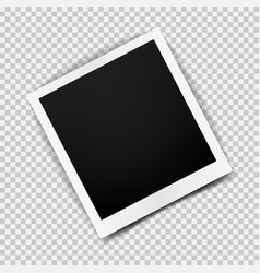 old empty realistic photo frame with transparent vector image