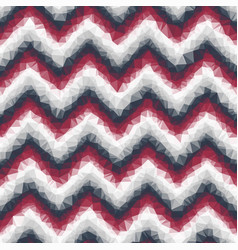 ombre low poly crystallized chevron seamless tile vector image