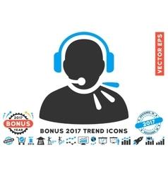 Operator Speech Flat Icon With 2017 Bonus Trend vector image vector image