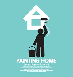 Painting home concept vector