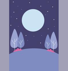 park at night vector image