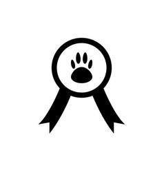 Pet champion icon vector