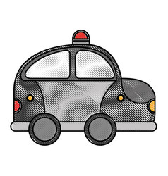 police patrol drawing icon vector image