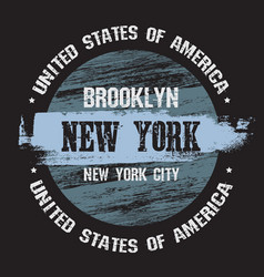 quote typographical background about new york in vector image