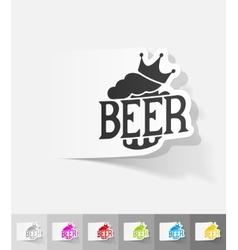 Realistic design element king beer vector