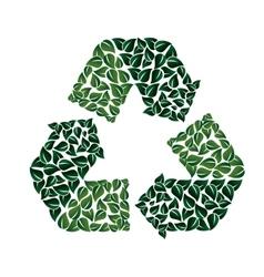 Recycling symbol icon graphic vector