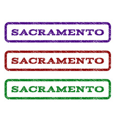 Sacramento watermark stamp vector